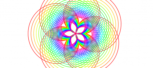 Rainbow curve with five petals